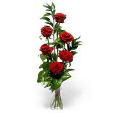 Erzurum çiçek gönderme sitemiz güvenlidir  mika yada cam vazoda 6 adet essiz gül
