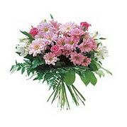 karisik kir çiçek demeti  Erzurum uluslararası çiçek gönderme