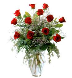 Vazo içerisinde 11 kirmizi gül  Erzurum yurtiçi ve yurtdışı çiçek siparişi