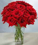 Erzurum çiçek servisi , çiçekçi adresleri  Sevdiklerinize özel ürün 12 adet cam içerisinde kirmizi gül  Erzurum hediye sevgilime hediye çiçek