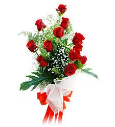 11 adet kirmizi güllerden görsel sölen buket  Erzurum yurtiçi ve yurtdışı çiçek siparişi