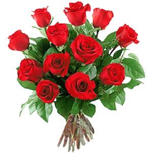 11 adet bakara kirmizi gül buketi  Erzurum çiçekçi mağazası