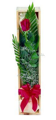1 adet kutuda kirmizi gül  Erzurum çiçek siparişi vermek