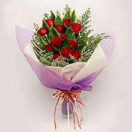 çiçekçi dükkanindan 11 adet gül buket  Erzurum çiçek online çiçek siparişi