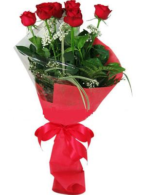 7 adet kirmizi gül buketi  Erzurum çiçekçiler