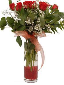 Erzurum çiçek gönderme sitemiz güvenlidir  11 adet kirmizi gül vazo çiçegi