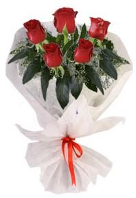 5 adet kirmizi gül buketi  Erzurum kaliteli taze ve ucuz çiçekler