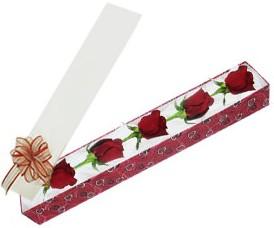 Erzurum çiçek mağazası , çiçekçi adresleri  kutu içerisinde 5 adet kirmizi gül