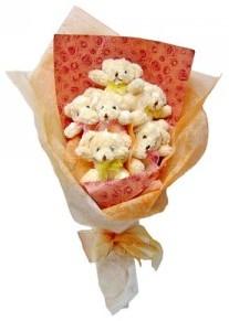 12 adet ayiciktan buket  Erzurum çiçek servisi , çiçekçi adresleri