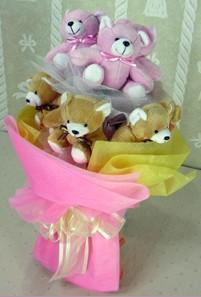 8 adet ayiciktan buket  Erzurum çiçek yolla , çiçek gönder , çiçekçi