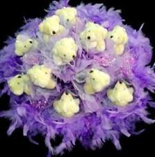 11 adet pelus ayicik buketi  Erzurum 14 şubat sevgililer günü çiçek