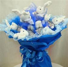 7 adet pelus ayicik buketi  Erzurum 14 şubat sevgililer günü çiçek