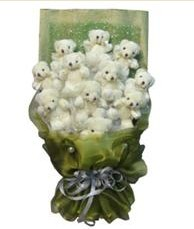 11 adet pelus ayicik buketi  Erzurum online çiçekçi , çiçek siparişi