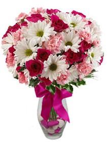 Erzurum çiçek servisi , çiçekçi adresleri  Karisik mevsim kir çiçegi vazosu