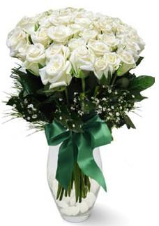 19 adet essiz kalitede beyaz gül  Erzurum kaliteli taze ve ucuz çiçekler