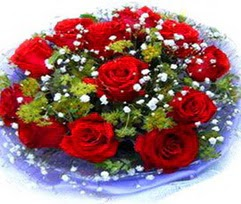 9 adet kirmizi güllerden buket  Erzurum cicekciler , cicek siparisi