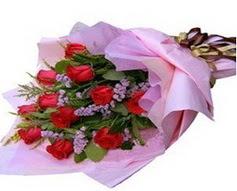 11 adet kirmizi güllerden görsel buket  Erzurum çiçek siparişi vermek