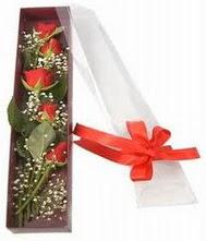 kutu içinde 5 adet kirmizi gül  Erzurum güvenli kaliteli hızlı çiçek