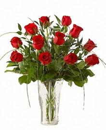 cam yada mika vazo içerisinde 9 kirmizi gül  Erzurum çiçek servisi , çiçekçi adresleri