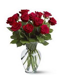 Erzurum çiçek siparişi vermek  cam yada mika vazoda 10 kirmizi gül