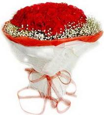 Erzurum kaliteli taze ve ucuz çiçekler  41 adet kirmizi gül buketi