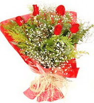 Erzurum çiçek gönderme  5 adet kirmizi gül buketi demeti