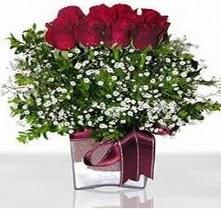 Erzurum çiçek mağazası , çiçekçi adresleri  mika yada cam vazo içerisinde 7 adet gül