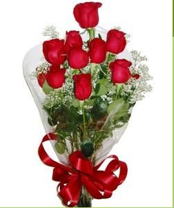 Erzurum çiçek gönderme sitemiz güvenlidir  10 adet kırmızı gülden görsel buket