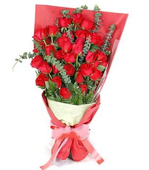 Erzurum cicek , cicekci  37 adet kırmızı güllerden buket