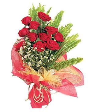 Erzurum internetten çiçek siparişi  11 adet kırmızı güllerden buket modeli