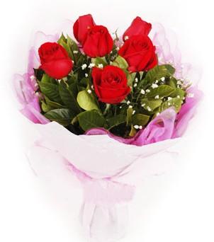 Erzurum çiçekçi telefonları  kırmızı 6 adet gülden buket