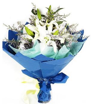 Erzurum çiçek gönderme  4 adet dal kazablankadan görsel buket