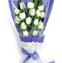 Erzurum çiçek online çiçek siparişi  11 adet beyaz gül buket modeli