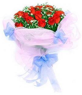 Erzurum çiçek servisi , çiçekçi adresleri  11 adet kırmızı güllerden buket modeli