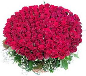 Erzurum internetten çiçek satışı  100 adet kırmızı gülden görsel buket