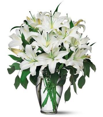 Erzurum çiçek mağazası , çiçekçi adresleri  4 dal kazablanka ile görsel vazo tanzimi