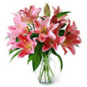 3 dal kazablanka görsel vazosu  Erzurum güvenli kaliteli hızlı çiçek
