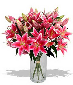 4 dal cazablanca görsel vazosu  Erzurum çiçek online çiçek siparişi