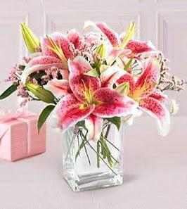 2 dal kazablanka görsel vazosu  Erzurum çiçek servisi , çiçekçi adresleri