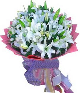 7 dal cazablanca görsel buketi  Erzurum çiçek online çiçek siparişi