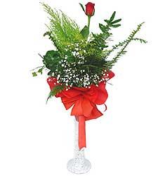 Erzurum çiçek gönderme  Cam vazoda masum tek gül