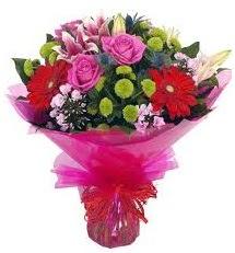 Karışık mevsim çiçekleri demeti  Erzurum online çiçekçi , çiçek siparişi