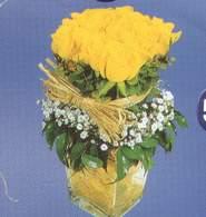 Erzurum çiçek gönderme  Cam vazoda 9 Sari gül