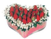 Erzurum cicekciler , cicek siparisi  mika kalpte kirmizi güller 9