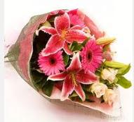 1 dal kazablanka ve mevsim çiçekleri  Erzurum güvenli kaliteli hızlı çiçek