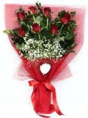 7 adet kırmızı gülden buket tanzimi  Erzurum çiçek yolla , çiçek gönder , çiçekçi