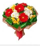 1 demet karışık buket  Erzurum çiçekçi telefonları