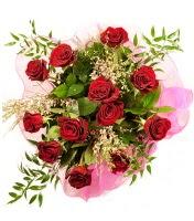 12 adet kırmızı gül buketi  Erzurum çiçek yolla
