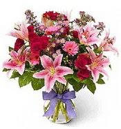 Vazo içerisinde karışık mevsim çiçeği  Erzurum çiçek servisi , çiçekçi adresleri