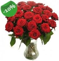 Vazo içerisinde 25 adet kırmızı gül  Erzurum çiçek yolla , çiçek gönder , çiçekçi